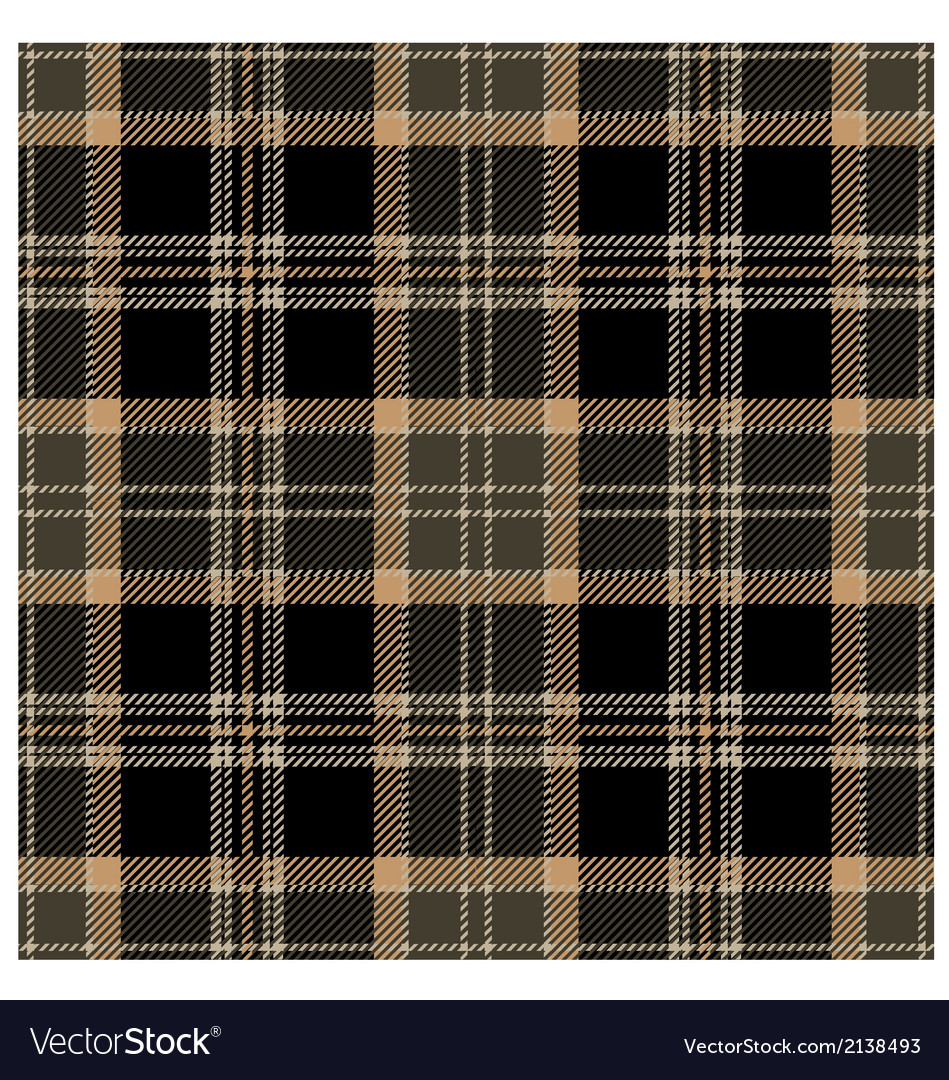 Black Seamless Tartan Plaid Design