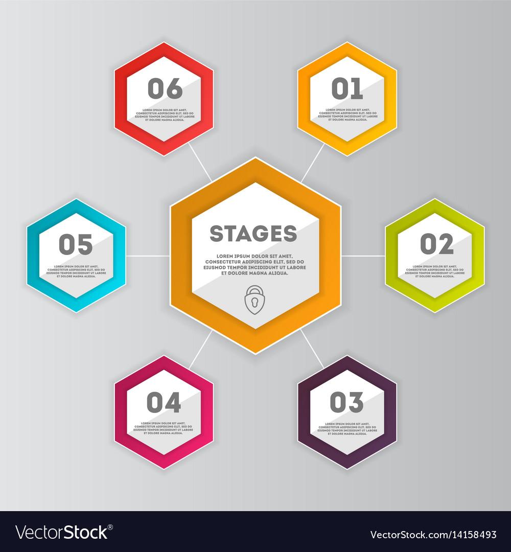 Business data visualization concept set vector image