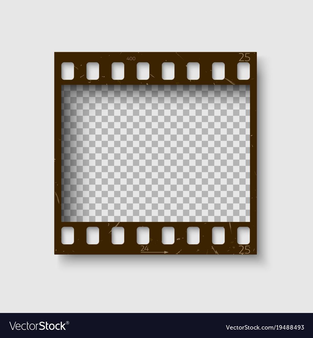 Frame of 35 mm filmstrip empty blanck photo