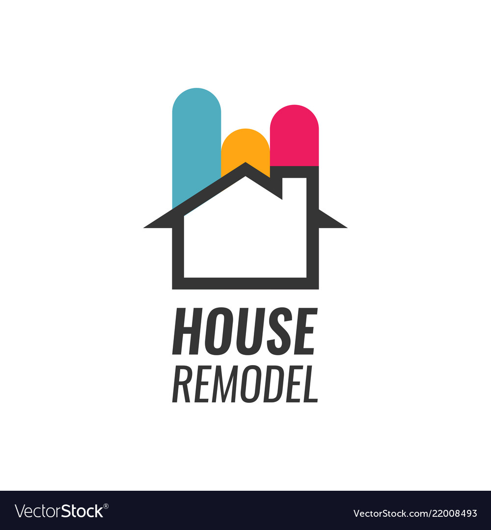 House remodel - logo with house silhouette
