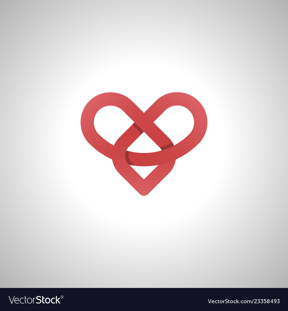Infinity love or eternal love red image icon and