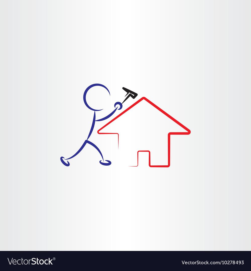 Man repair house