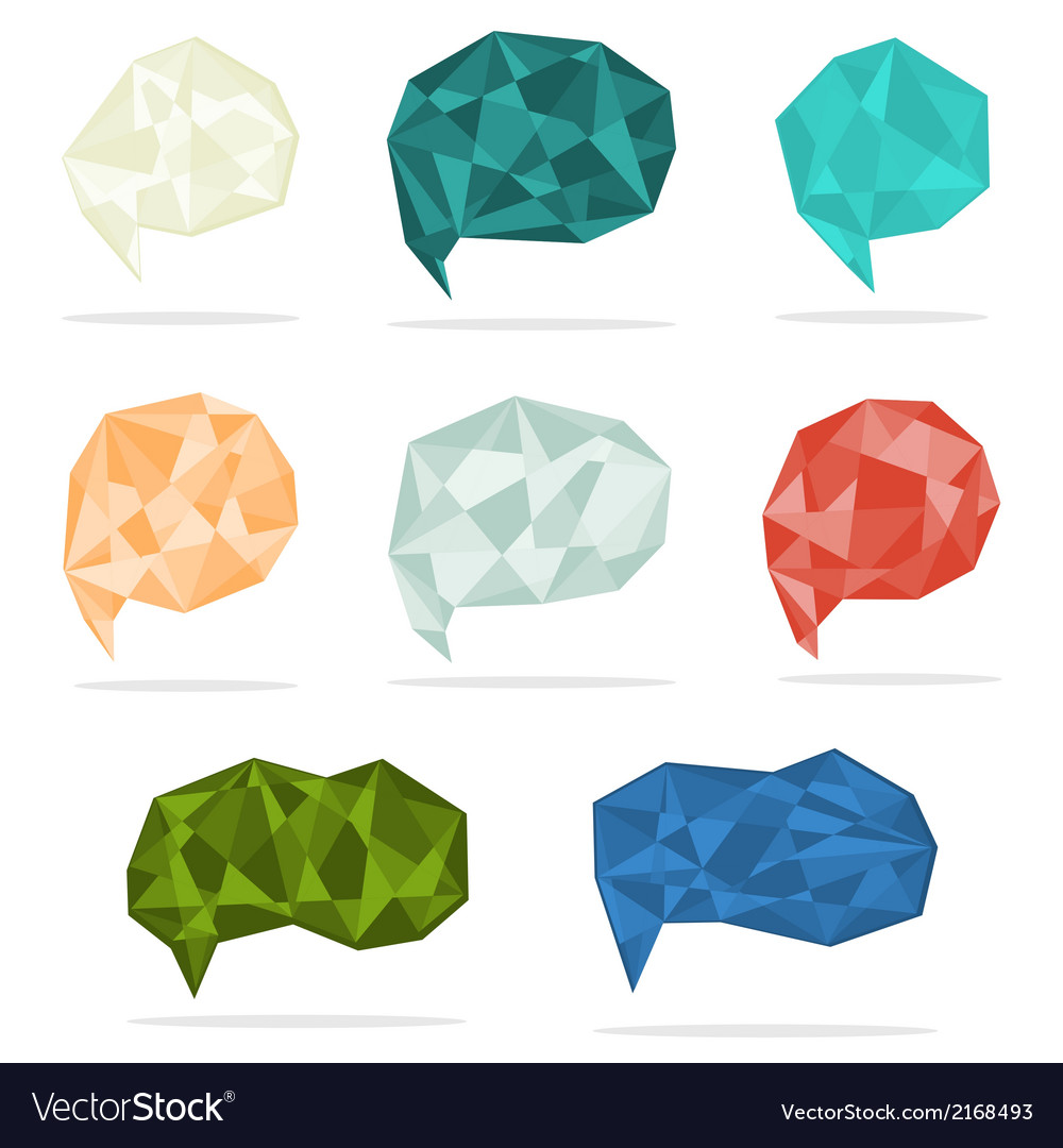 Set of trendy crystal shapes