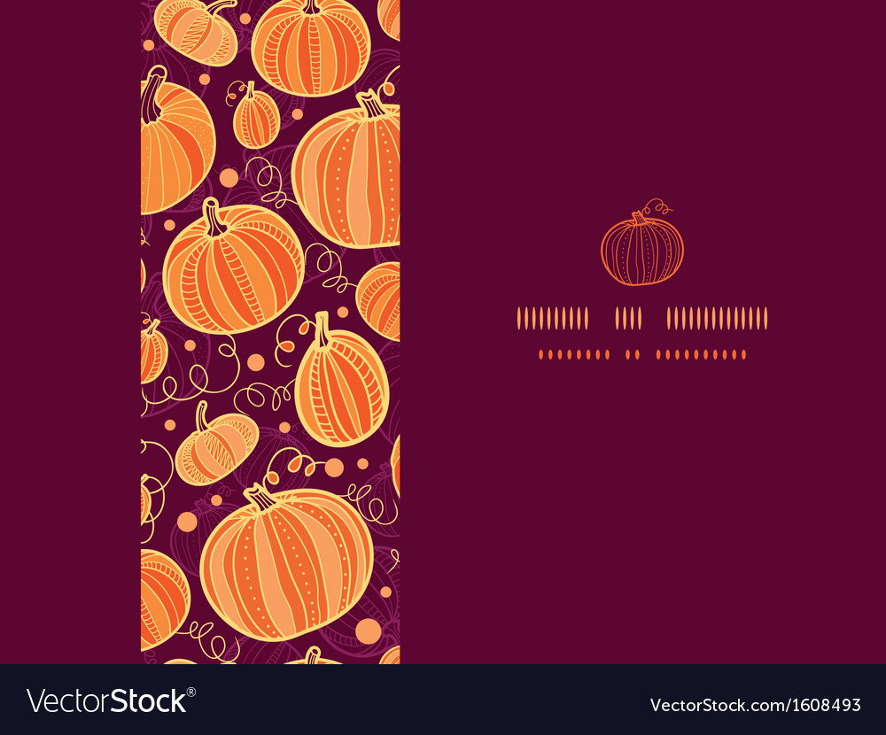 Thanksgiving pumpkins horizontal frame seamless