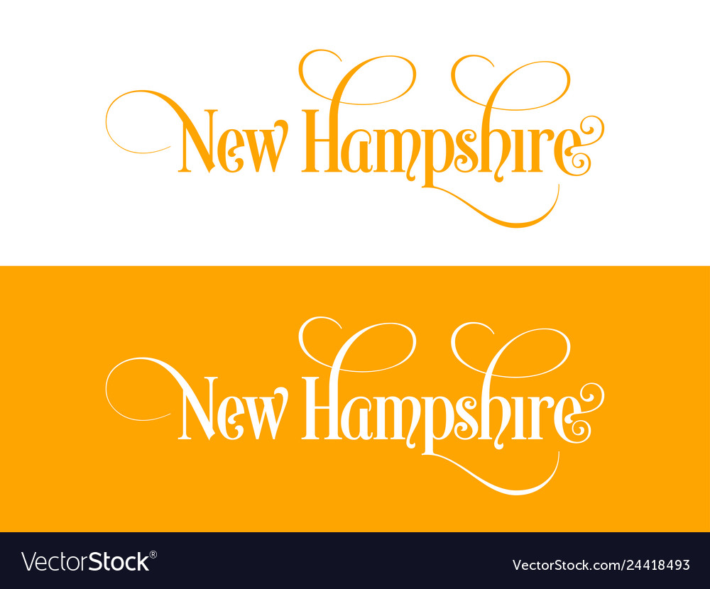 Typography of the usa new hampshire states