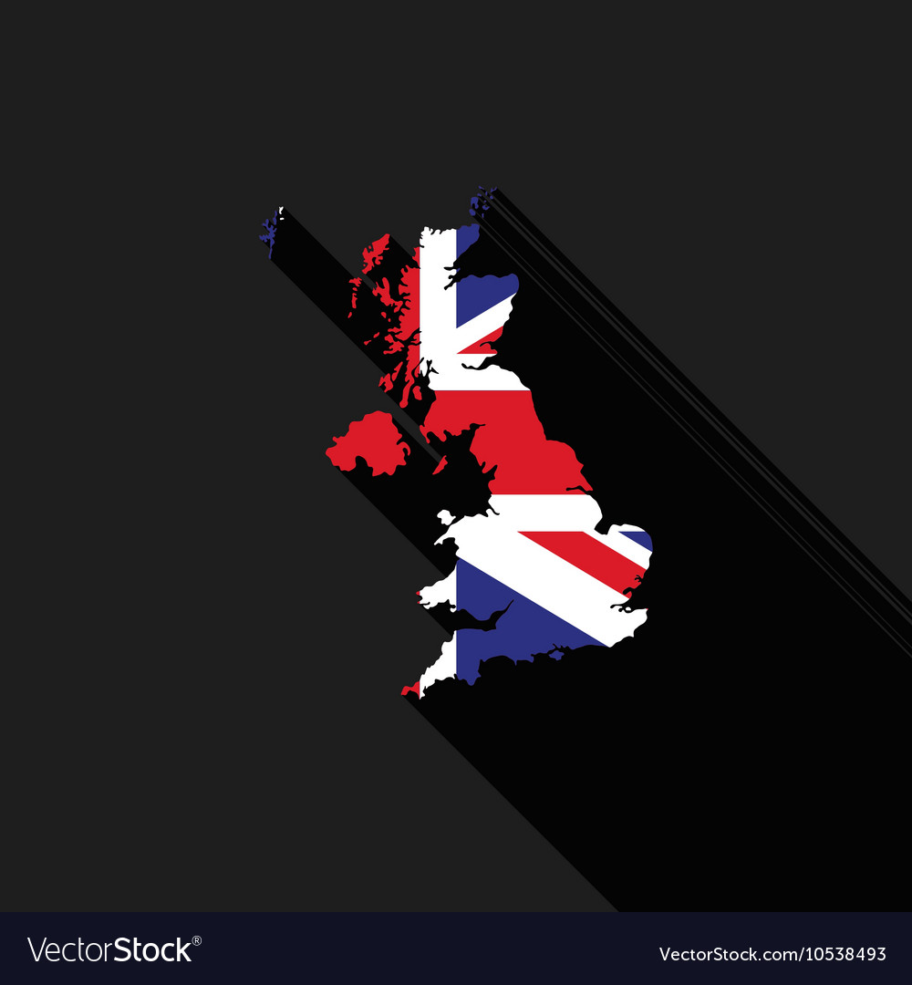 7983060c83bea United Kingdom UK flag map flat design Royalty Free Vector