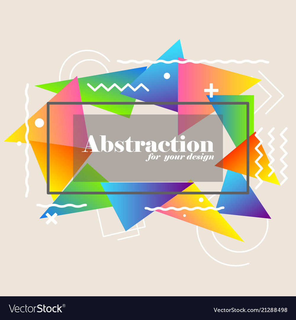 Abstract background with gradient triangles