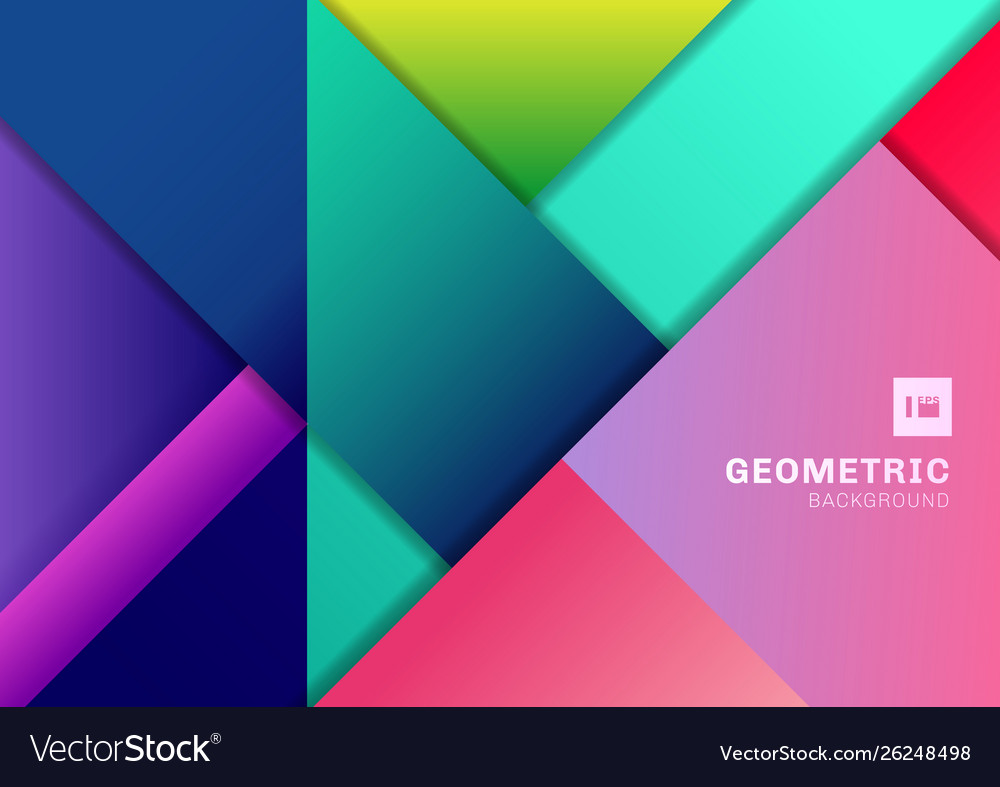 Abstract colorful geometric shape overlapping 3d