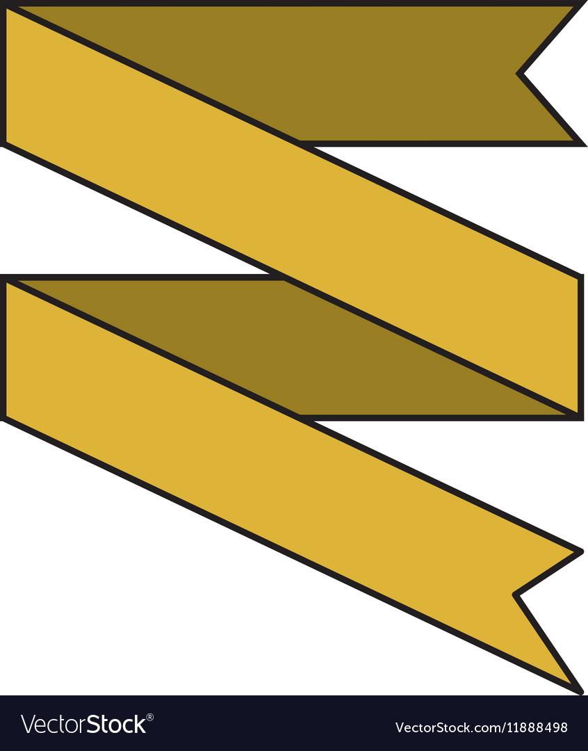 Banner ribbon yellow graphic