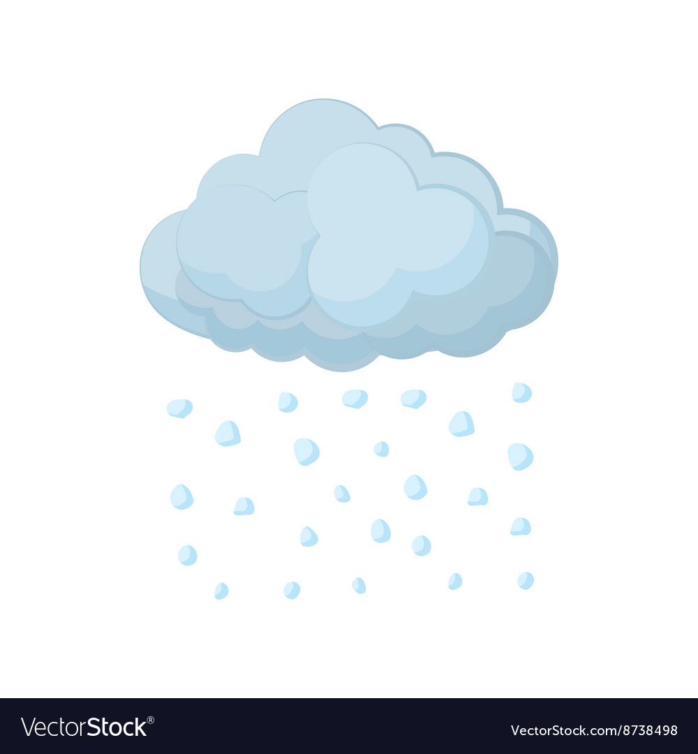 Cloud and hail icon cartoon style vector image