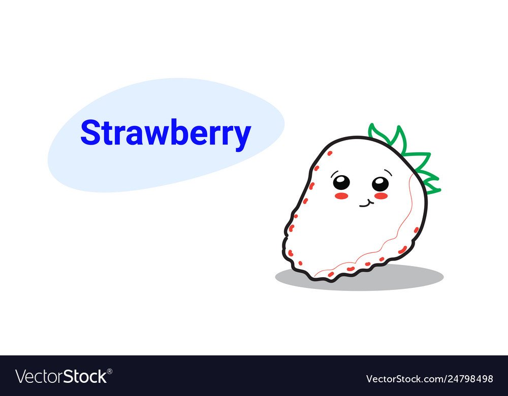 Cute strawberry cartoon comic character with