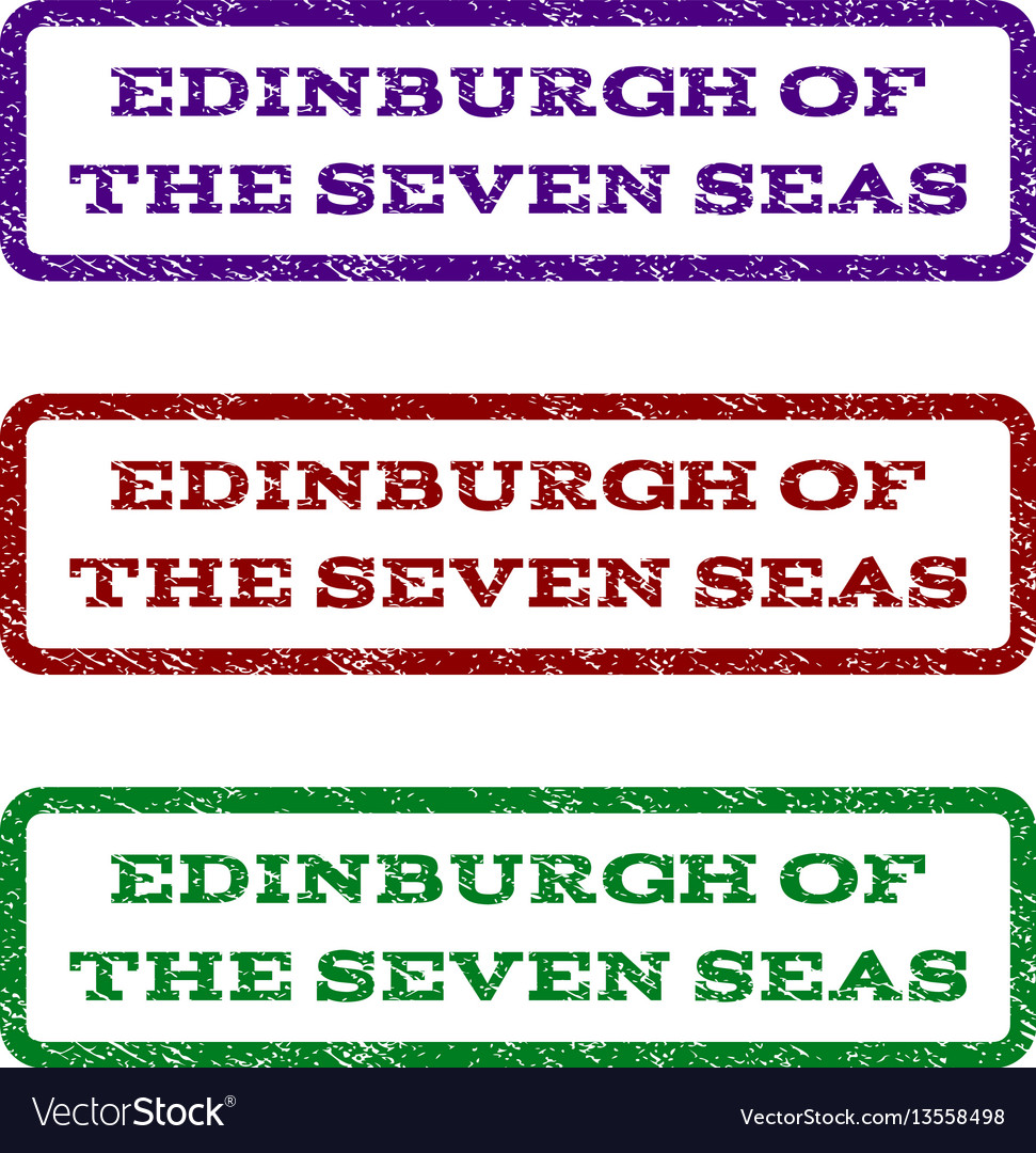 Edinburgh of the seven seas watermark stamp