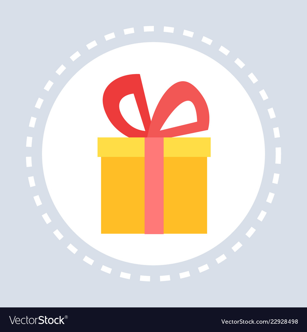 Gift box present shopping icon concept flat