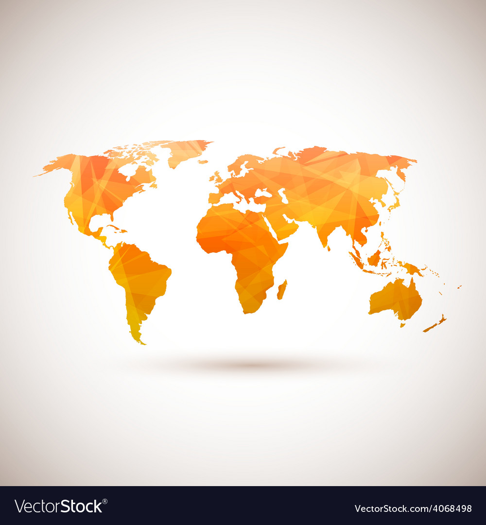 Low poly orange world map royalty free vector image low poly orange world map vector image gumiabroncs Gallery