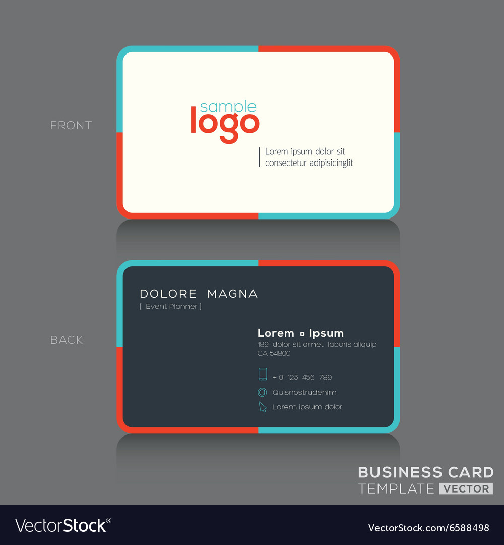 Modern simple business card design template vector image on VectorStock