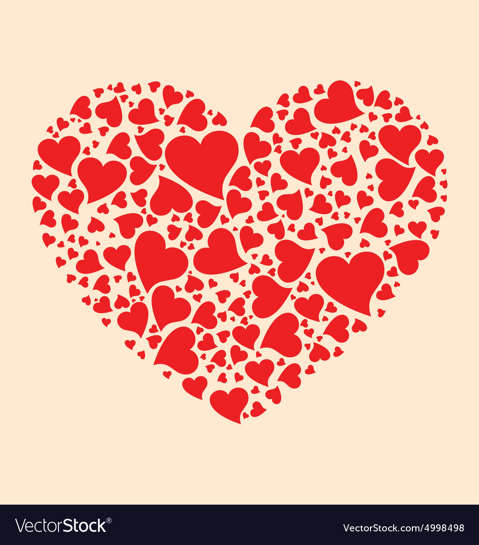 stylized hearts shapes royalty free vector image