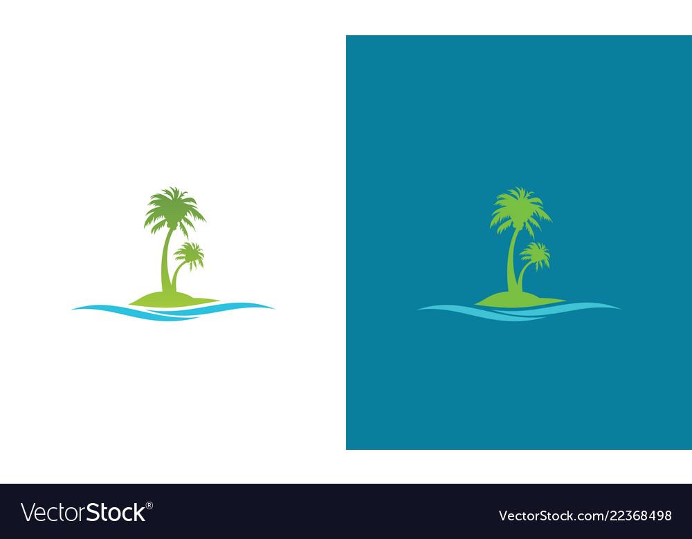 Tree palm wave logo