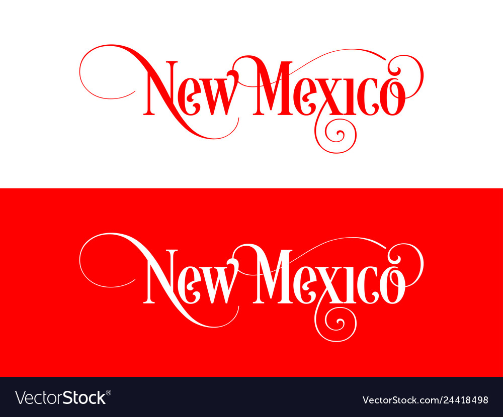 Typography of the usa new mexico states