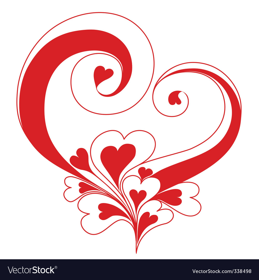 Valentine's Day background vector image