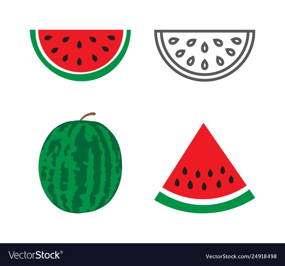 Watermelon icons set