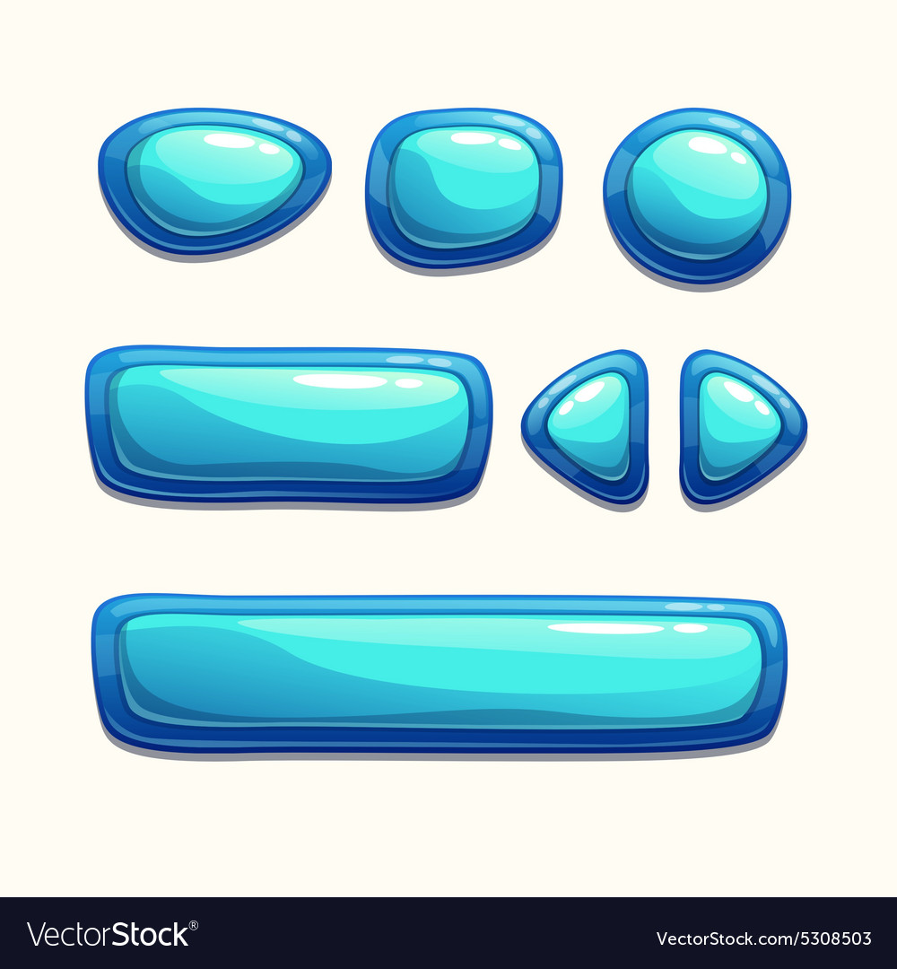 Blue buttons set