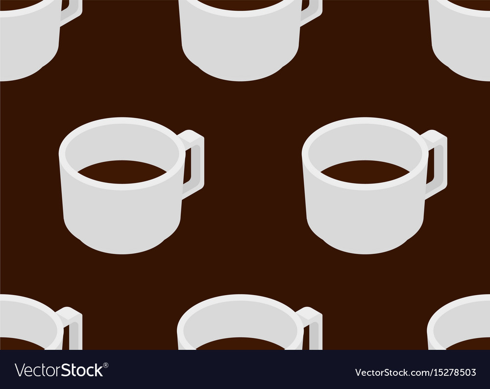 Coffee cup with espresso seamless pattern vector image