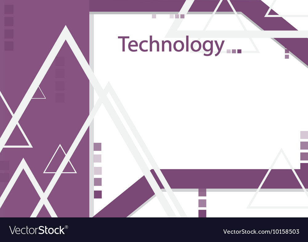 Modern geometrical abstract technology purple vector image