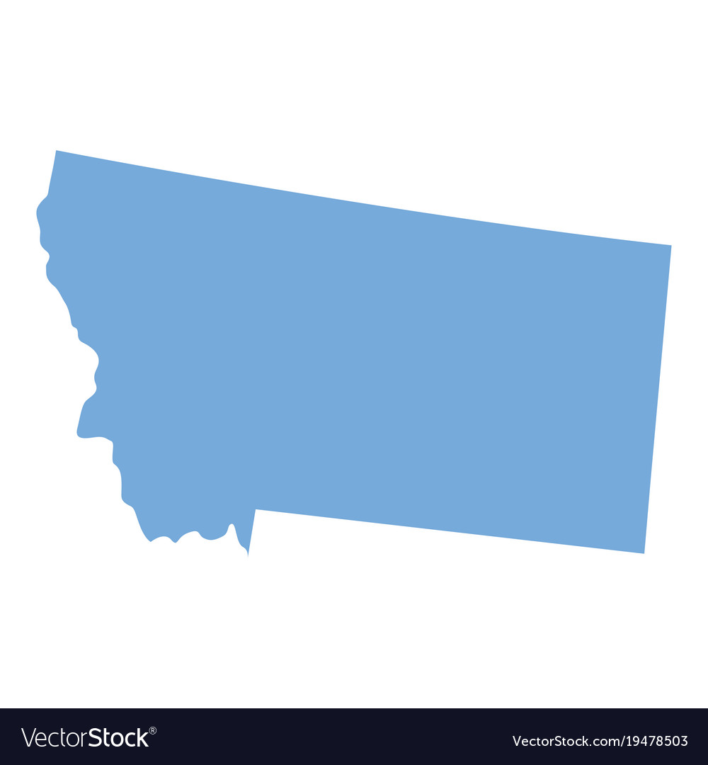 Montana state map Royalty Free Vector Image - VectorStock