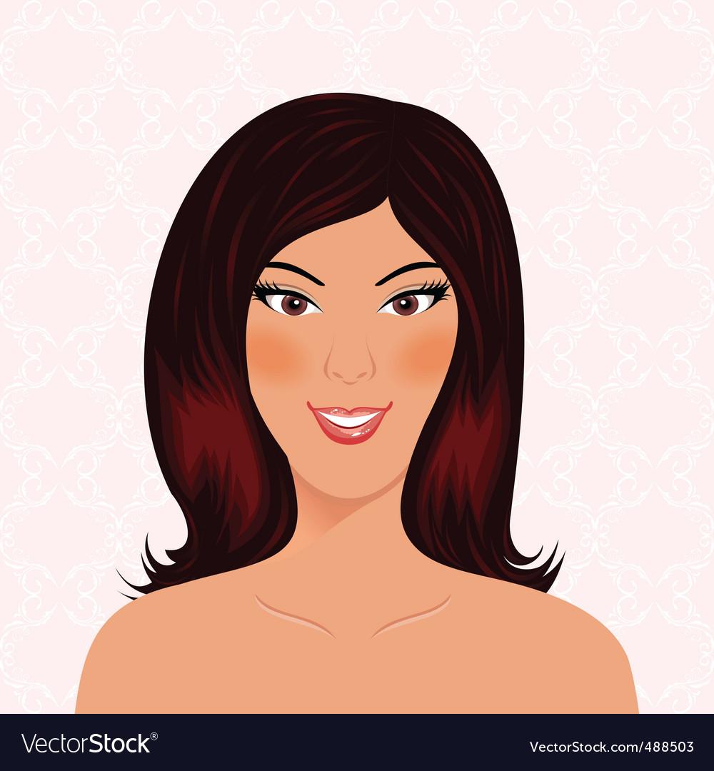 Portrait beautiful smiling girl isolated