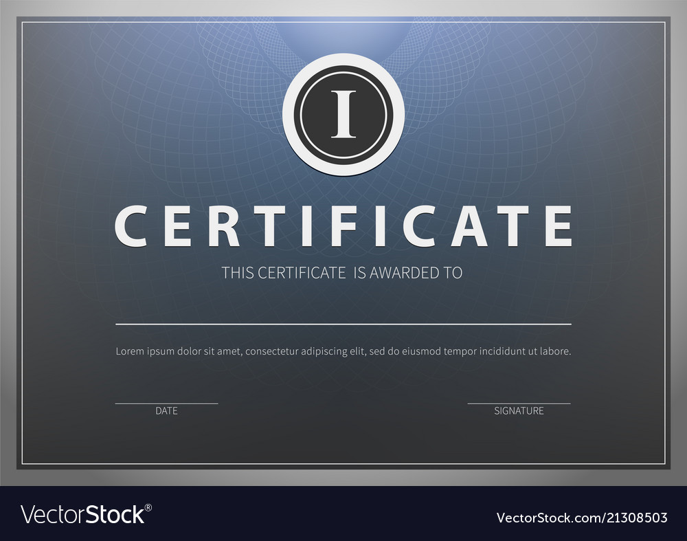 Stock Certificate Template Royalty Free Vector Image