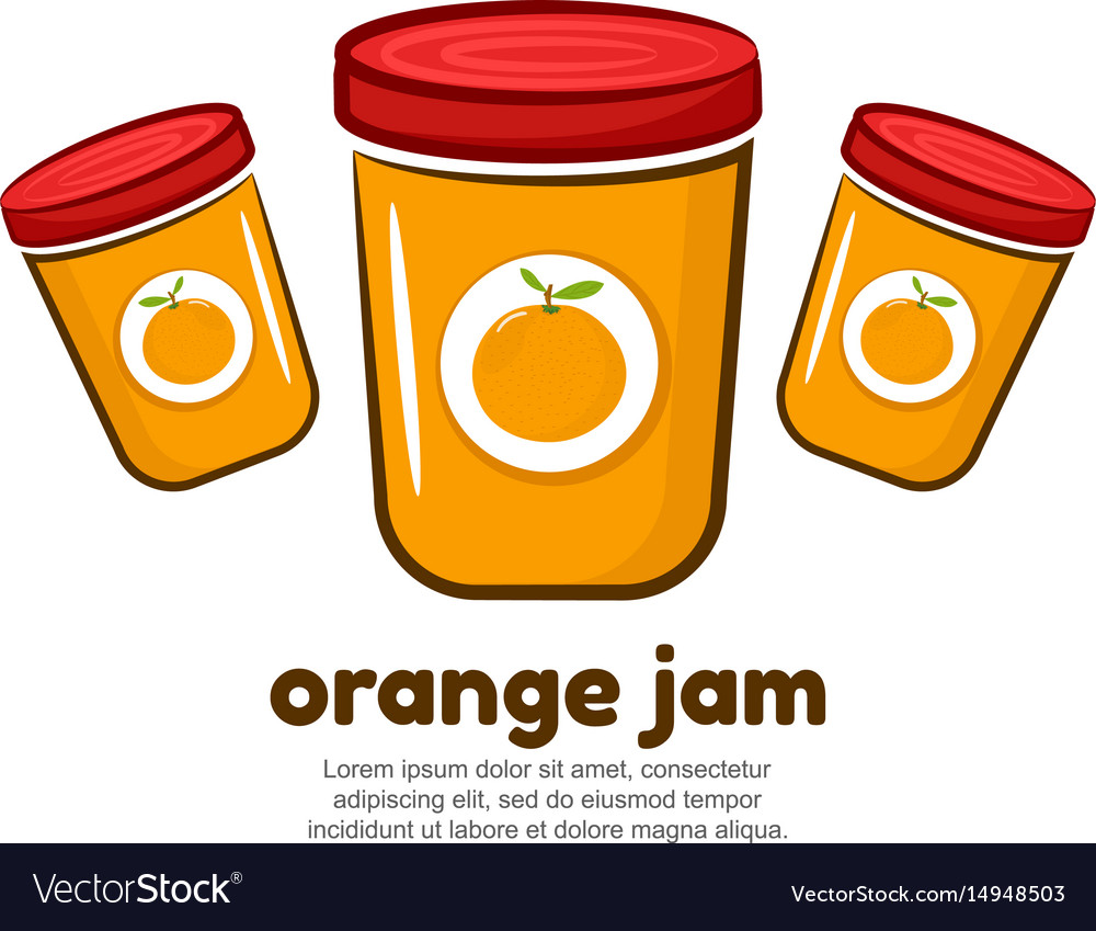 Template logo for orange jam