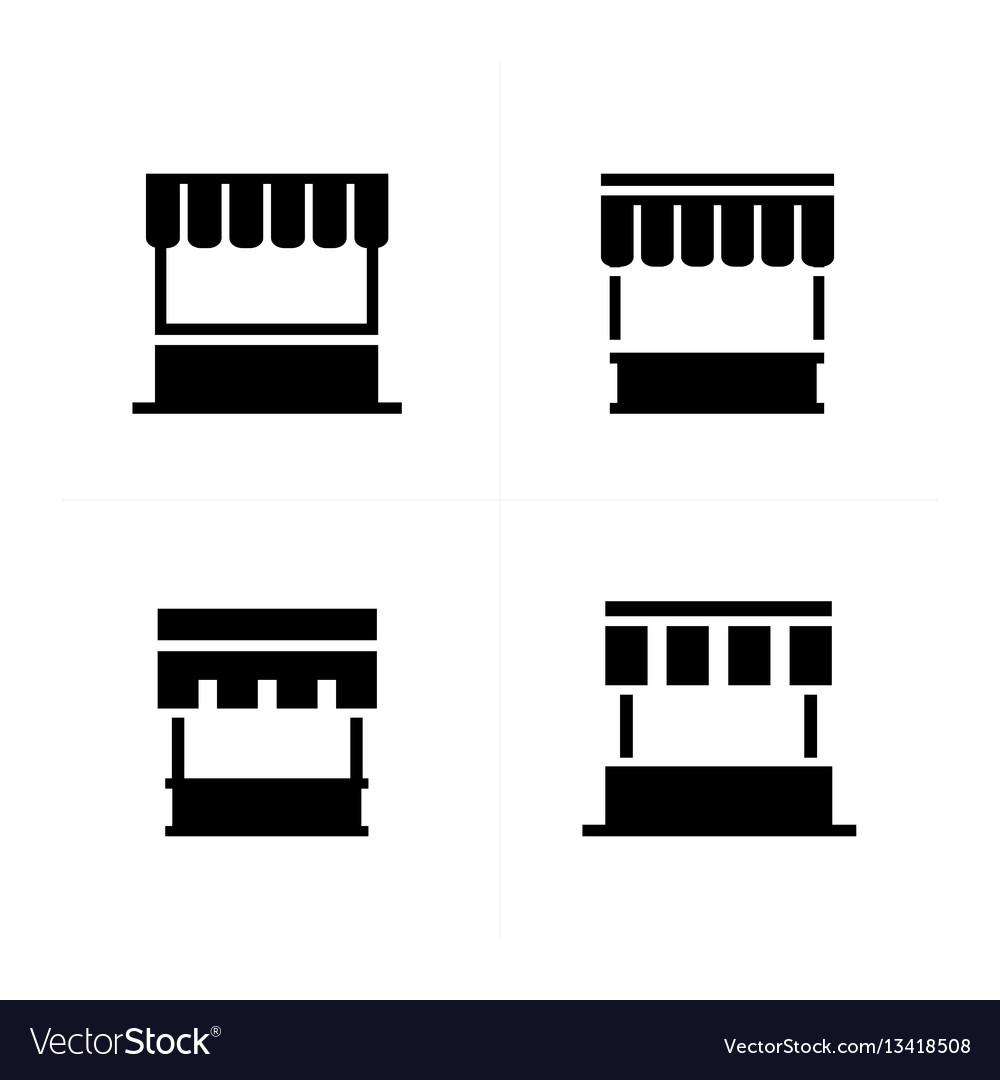 Fast food trolley icons