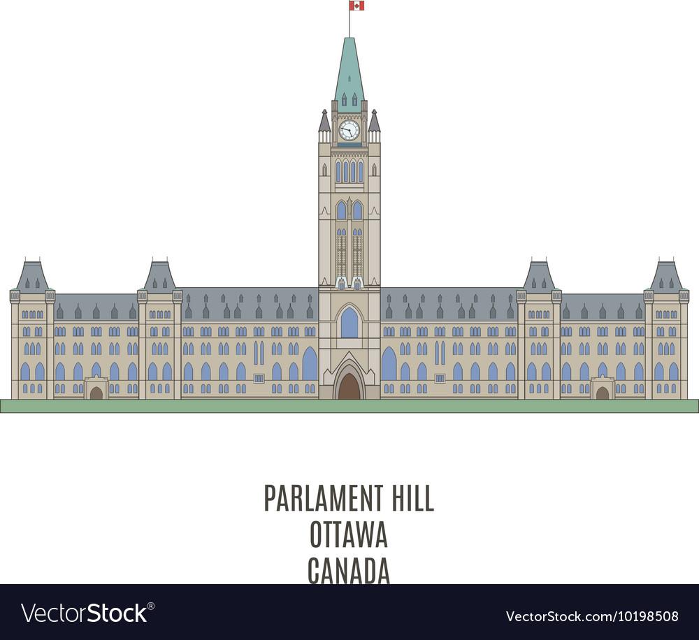 Parlament Ottawa vector image