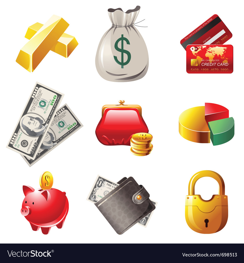 9 highly detailed money icons