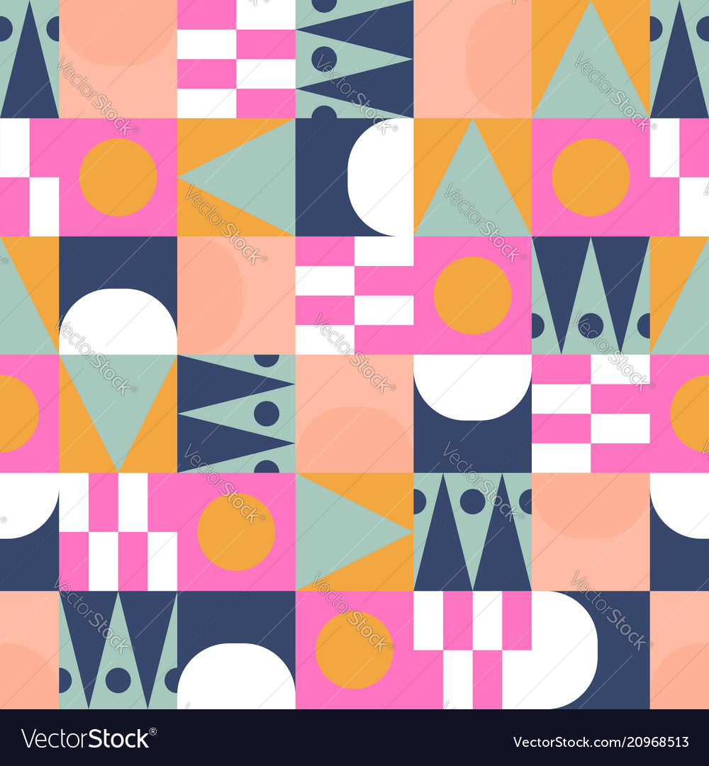 African bright color block seamless pattern