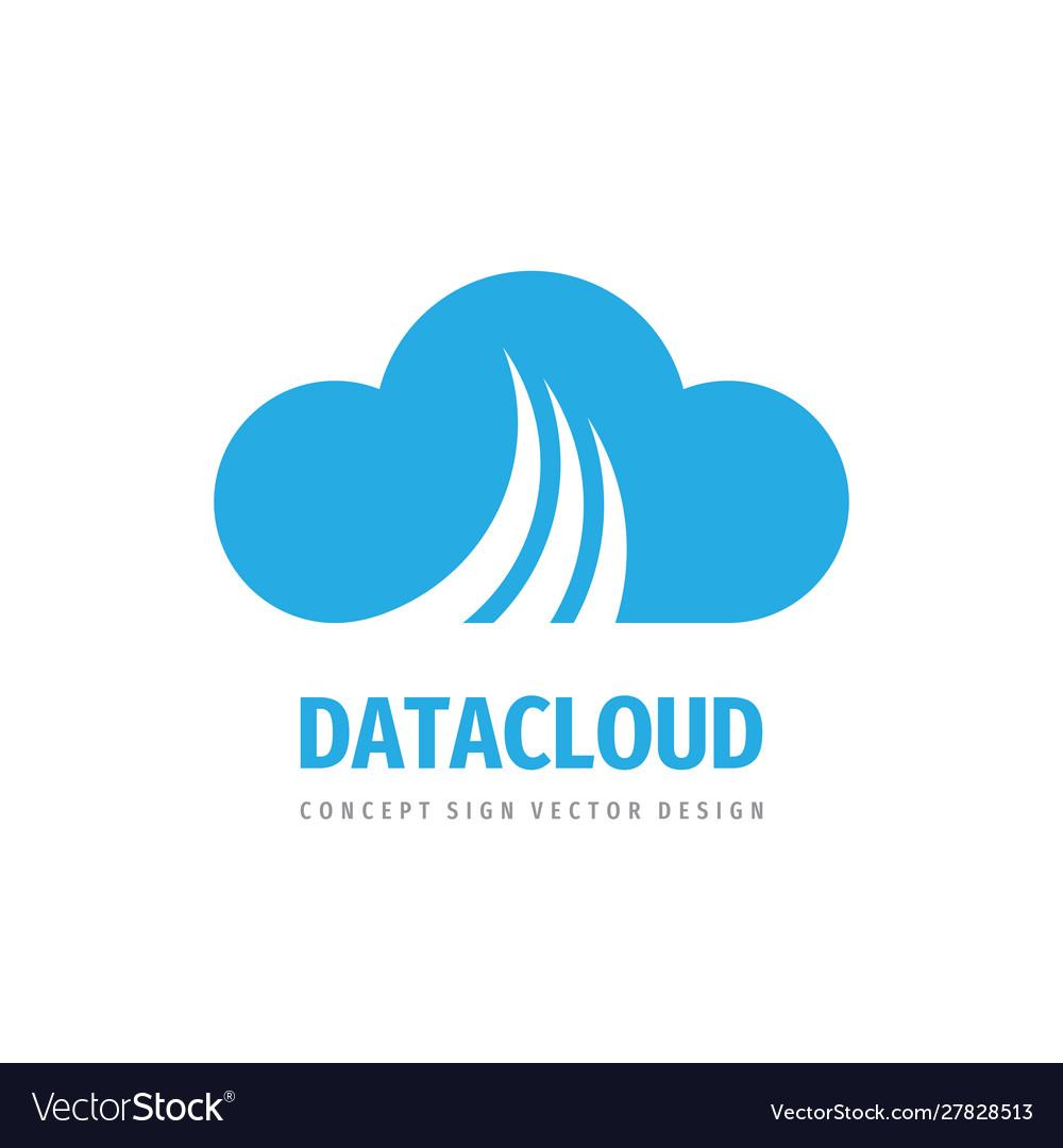 Cloud hosting icon design computing technology