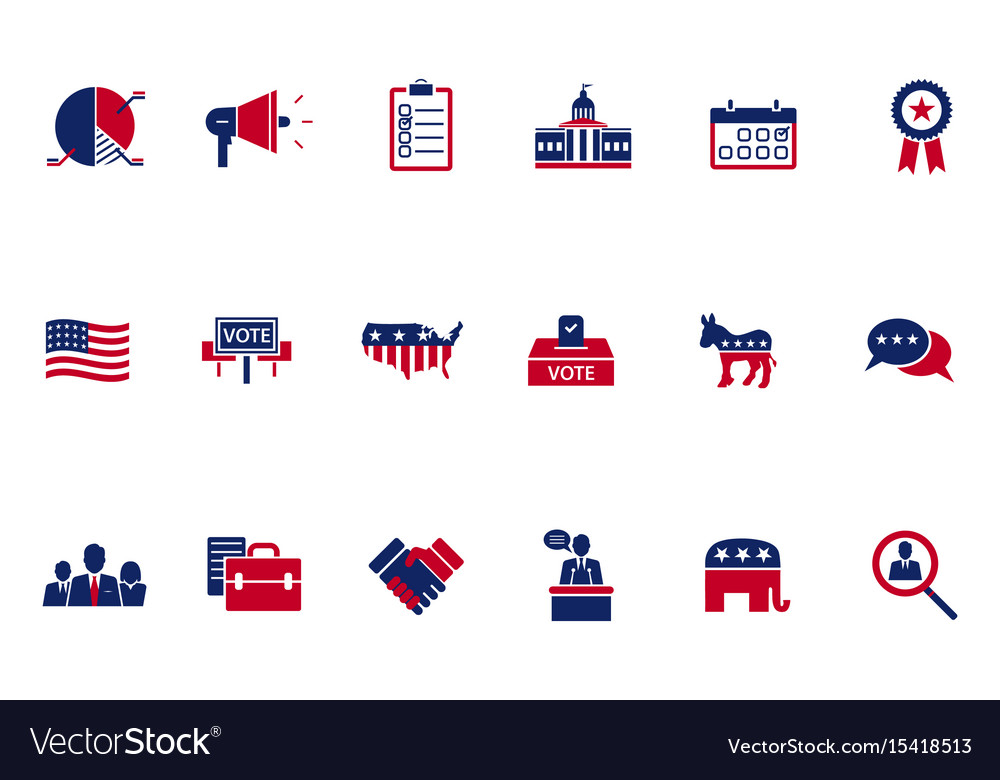 Election topic icon vector image