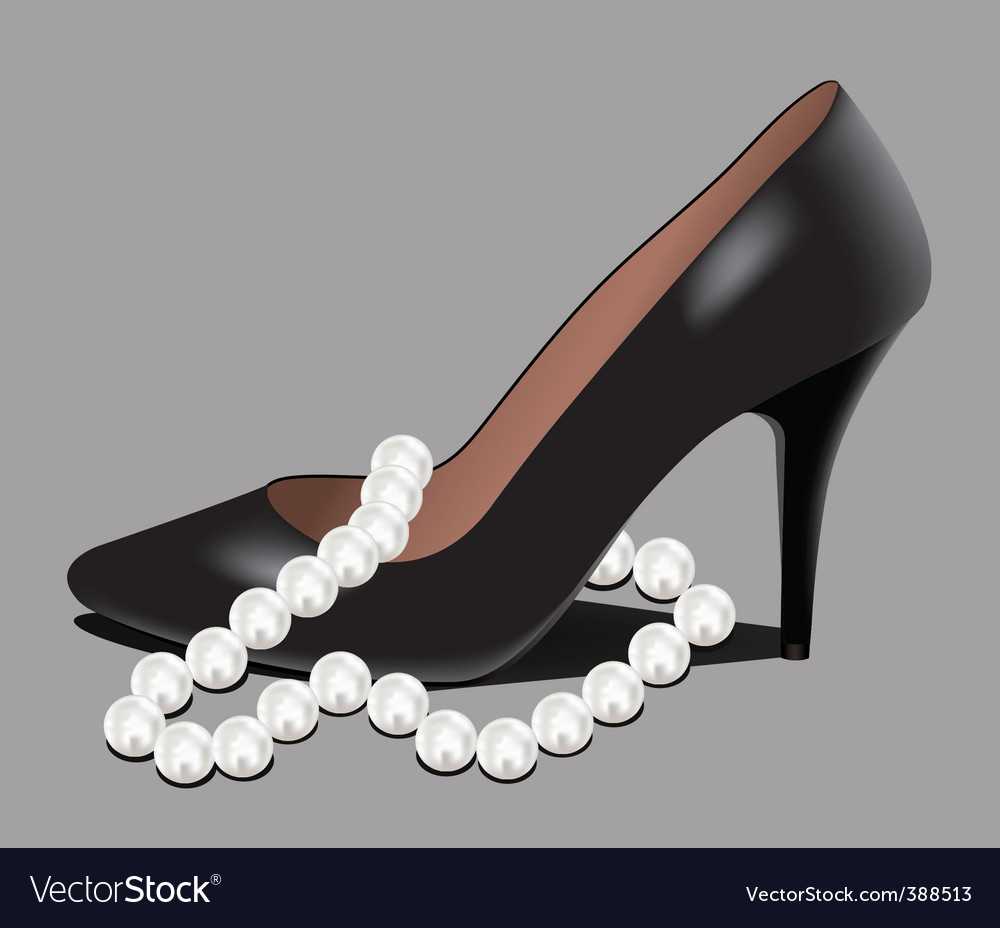 Shoe and pearl beads