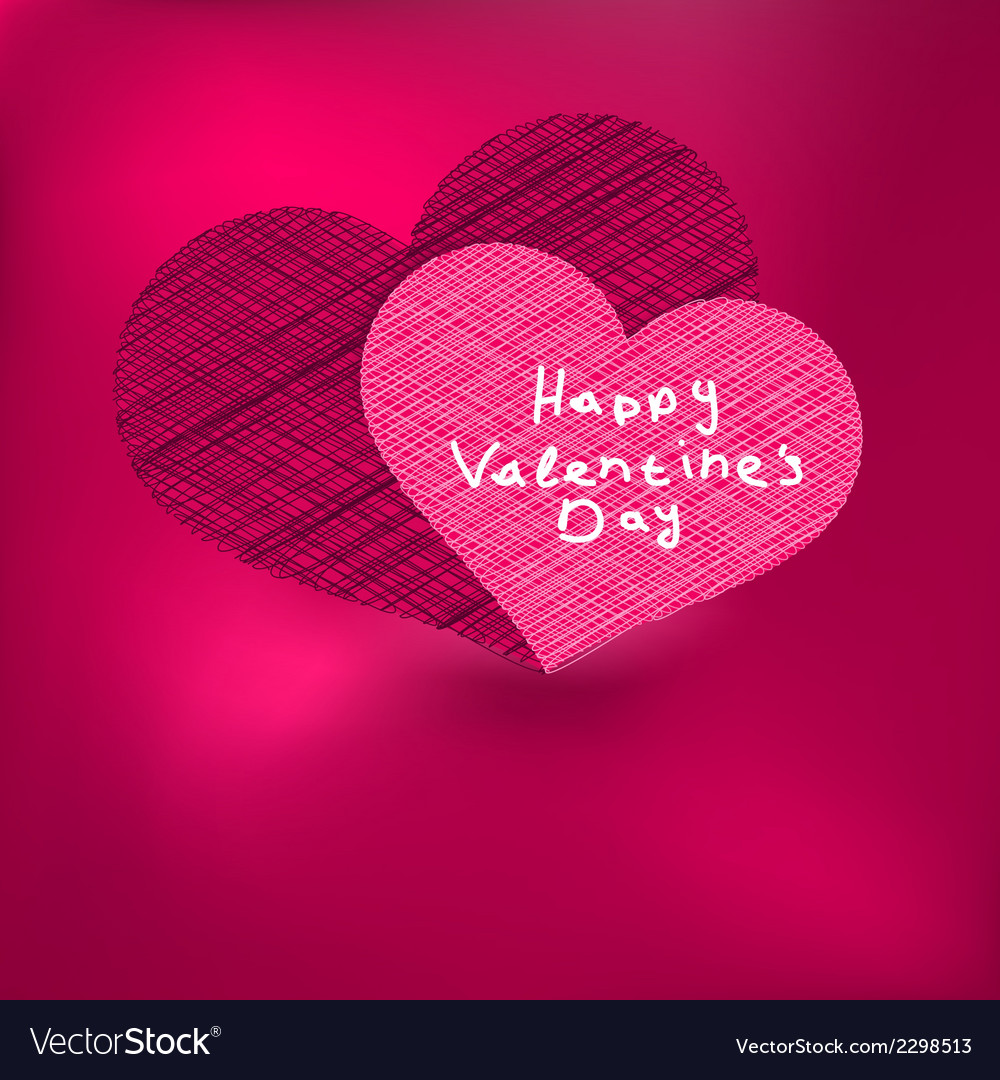 Valentines Day Card Template Eps8 Royalty Free Vector Image