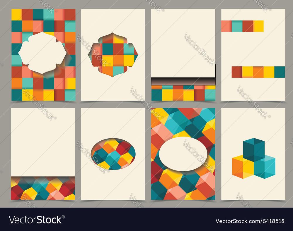 Abstract Retro Brochure Flyer design template