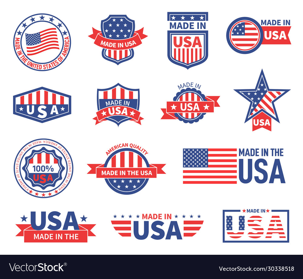 American labels made in usa seal badges design