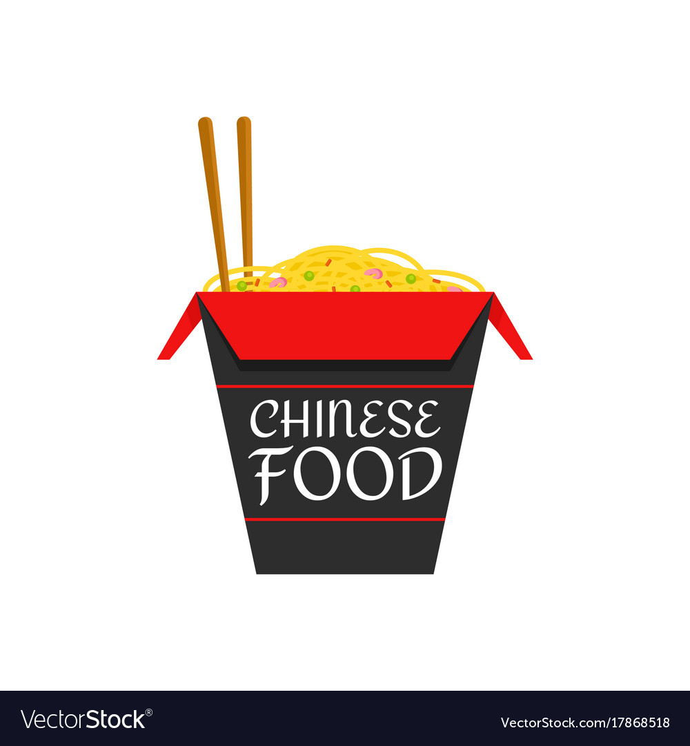 chinese food isolated flat cartoon royalty free vector image rh vectorstock com chinese food cartoon pic chinese food cartoon drawings
