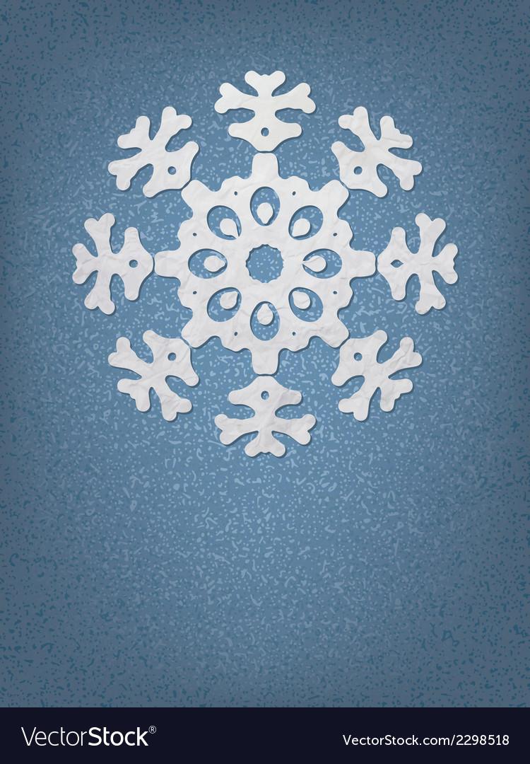 Christmas origami snowflake EPS8