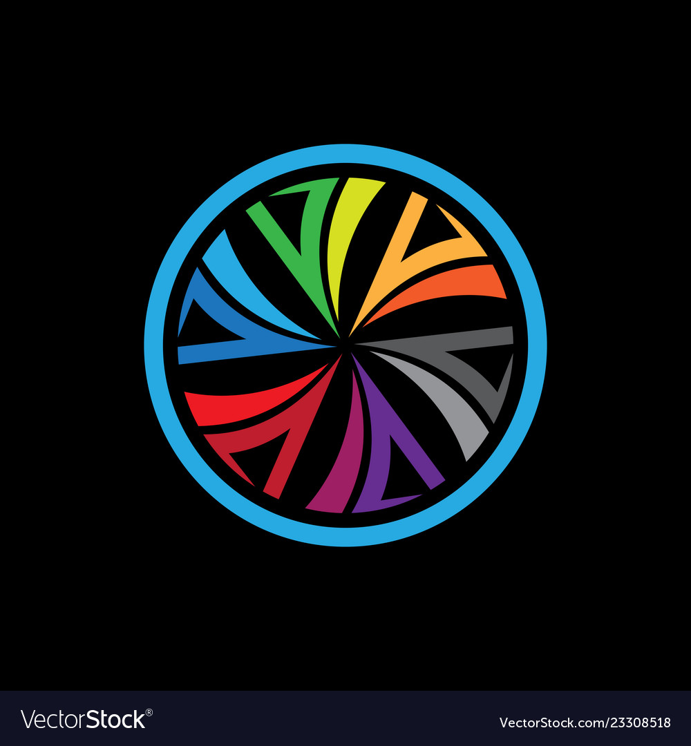 Connection circle logo colorful icon backgr