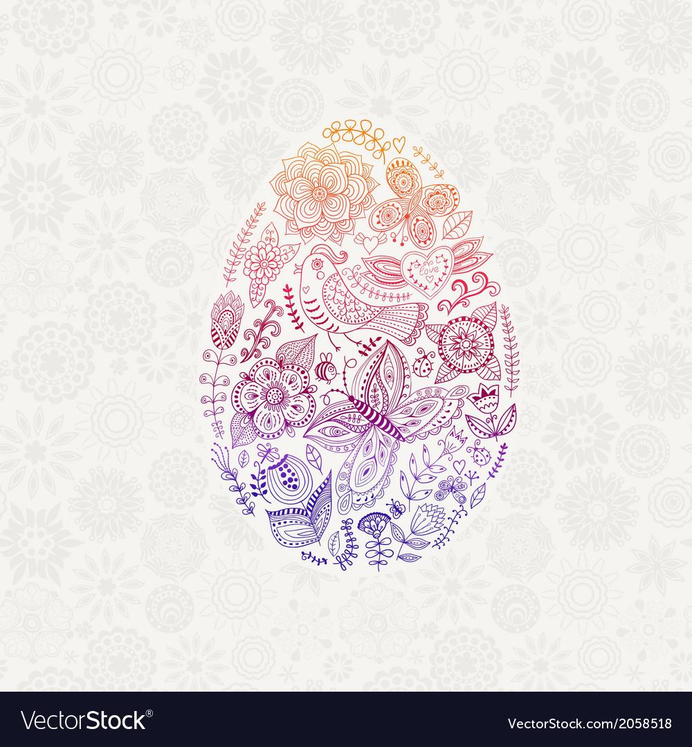Easter egg made flowers floral easter egg