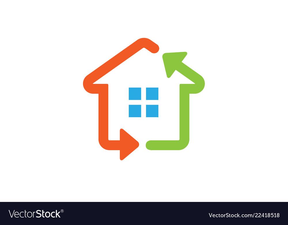 House renewable arrow technology logo