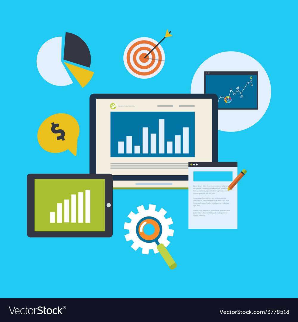 Icons set of website SEO optimization