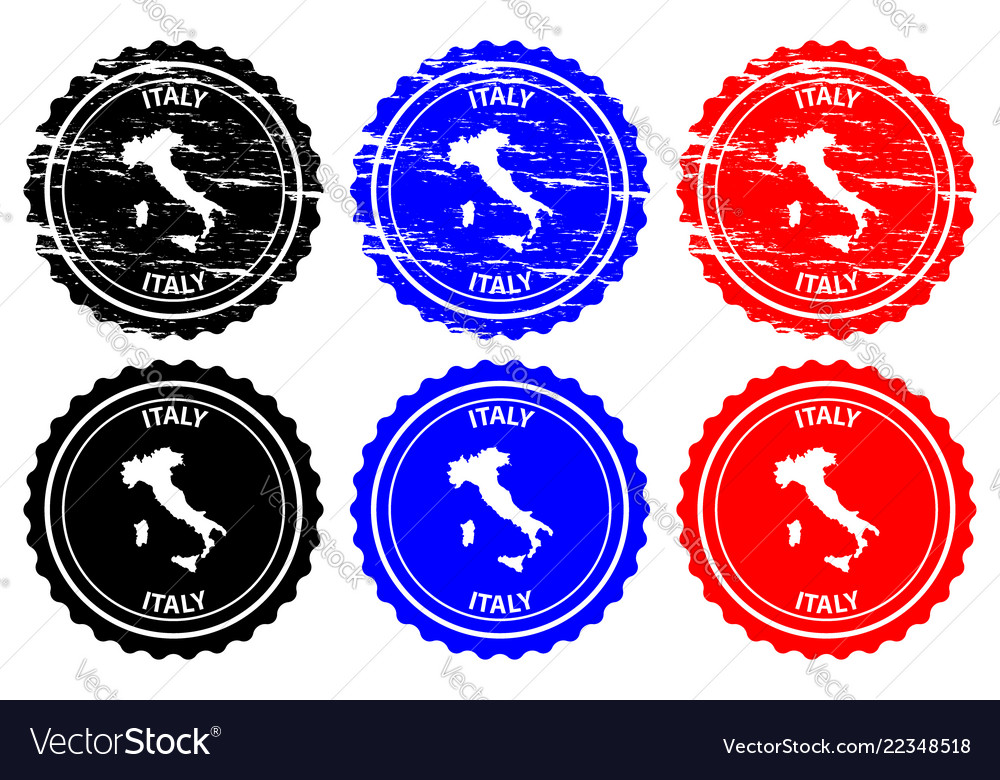 Italy rubber stamp vector image on VectorStock