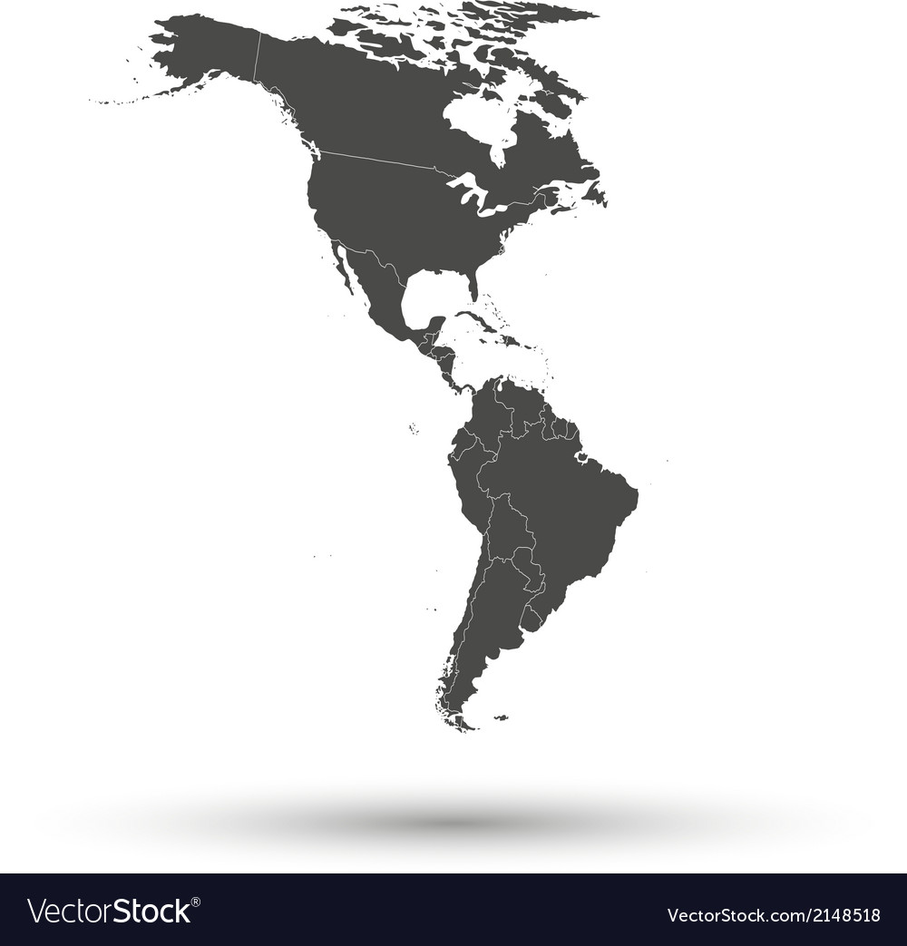 North And South America Map Background Royalty Free Vector