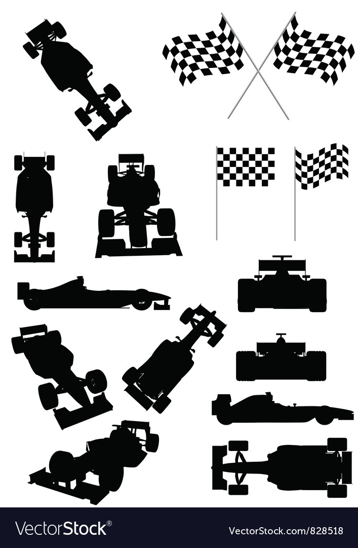Racing Car Silhouette